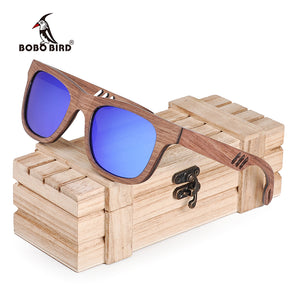 BOBO BIRD Wood Sunglasses Men Women Zonnebril Dames Square Mirror Fashion Sun Glasses Ladies lunette de soleil femme W-hAG029