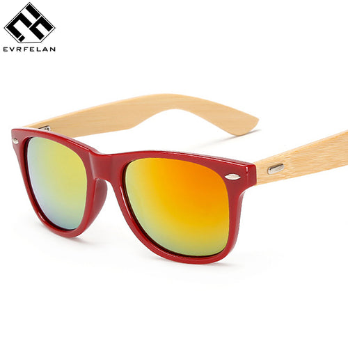 Evrfelan Brand  Sunglasses Men/Women Retro Sun Glasses  UV Protection Sunglasses Vintage Wooden Frame Sunglasses