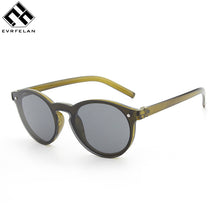 Evrfelan New Brand Sunglasses Women Natural Bamboo Frame Sun Glasses Round Wrap Double Bridge Goggle Driving Travel