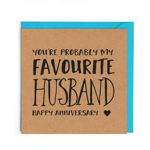 Favourite husband anniversary card