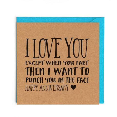 Funny anniversary card UK