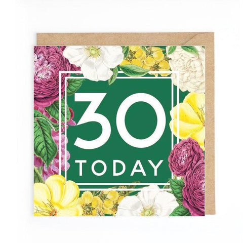 30th floral card