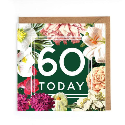 beautiful 60th birthday card