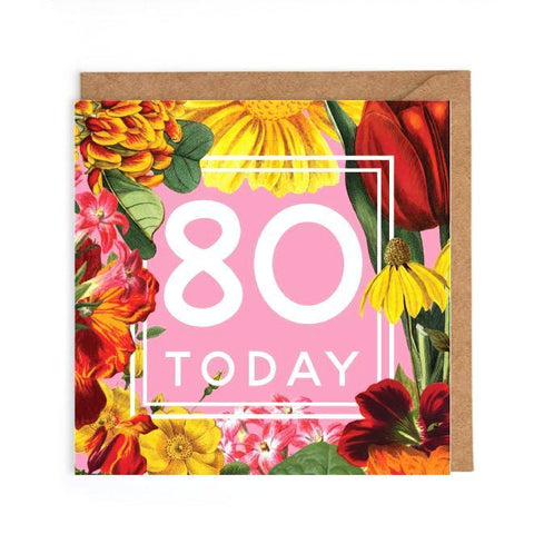 80th birthday cards