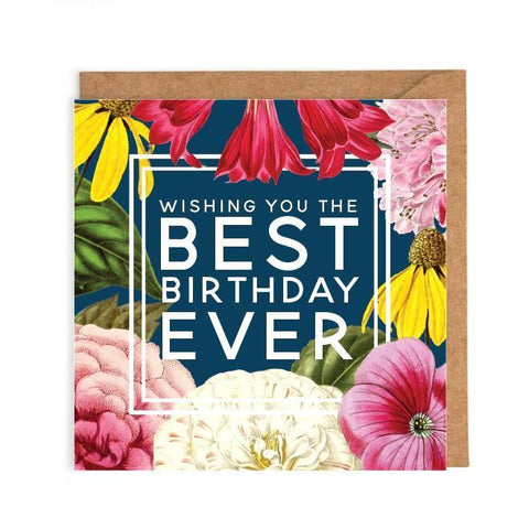 Beautiful flowers birthday card