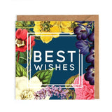 best wishes floral card