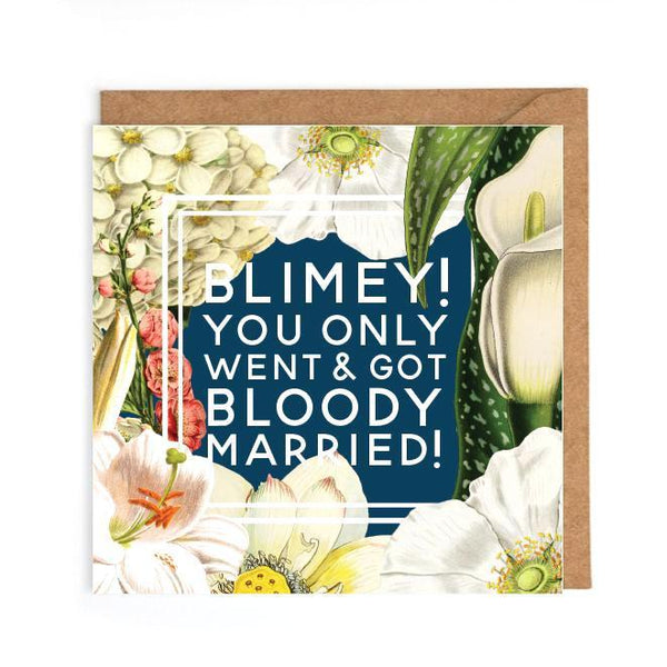 Witty wedding congratulations card