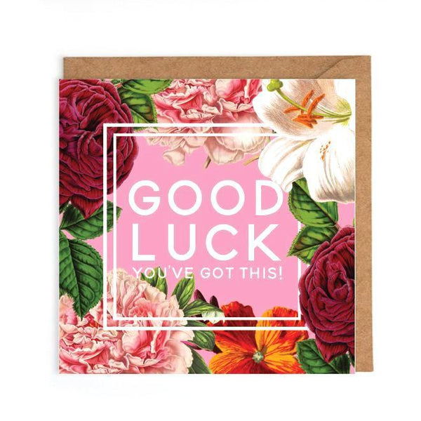 Flowery good luck card