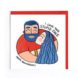 Love your face anniversary card