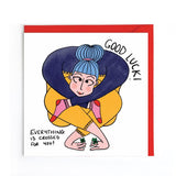 Good luck witty greetings card UK