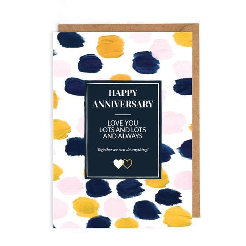 Happy anniversary card uK