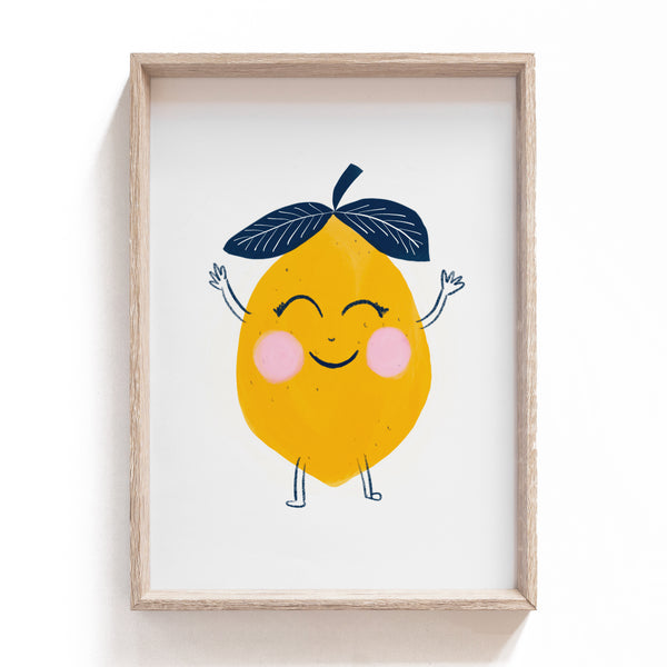 Happy Lemon | Print