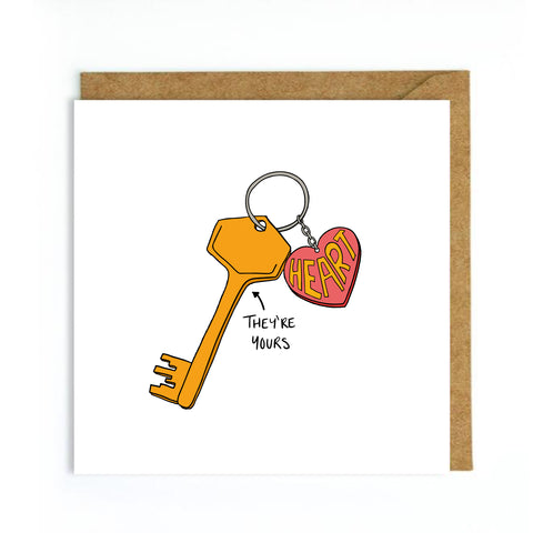 Keys to my heart card