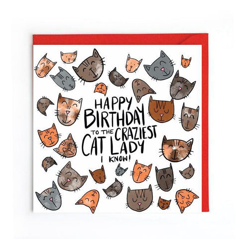 Cat lady card UK