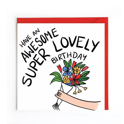 Super lovely birthday card