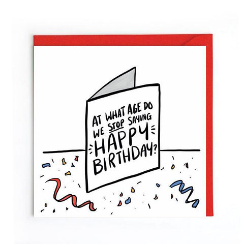 Funny birthday card UK