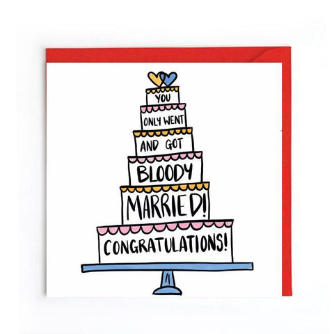Congrats on your wedding day card