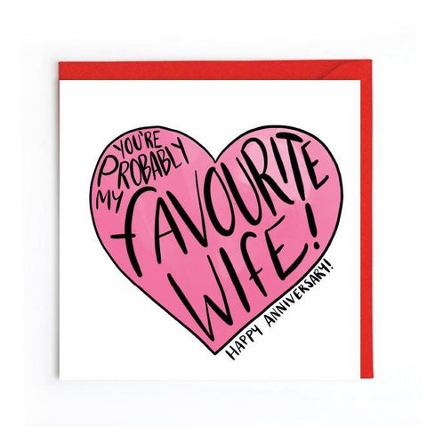 Favourite wife card UK