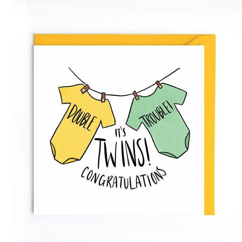 Congratulations twins card