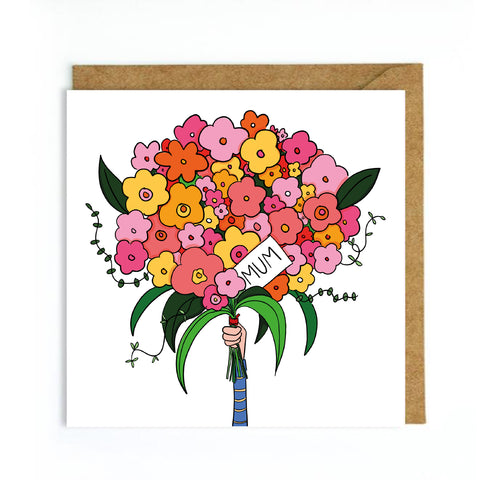 Flowers for mothers day card