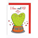 Cactus Valentines day card