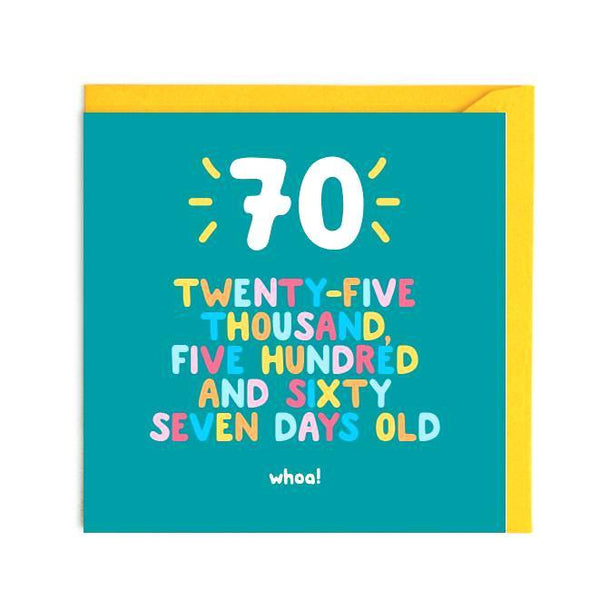 UM07 - 70th Birthday Card