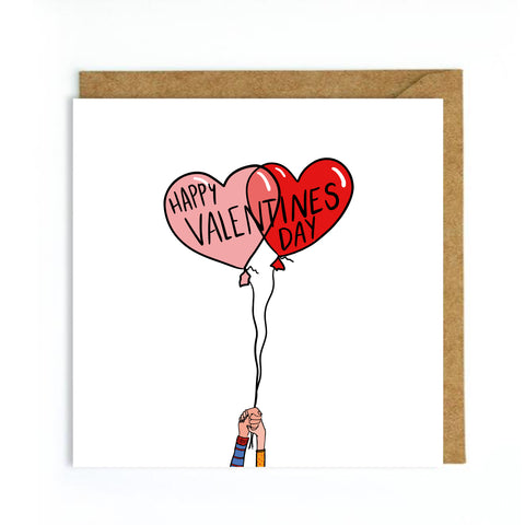 Valentine's Day Card Balloons
