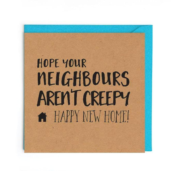 New neighbours new home card