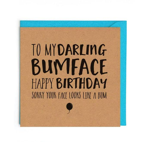Bumface birthday card UK