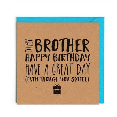 Funny birthday brother card