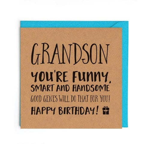 Funny birthday card for grandson UK