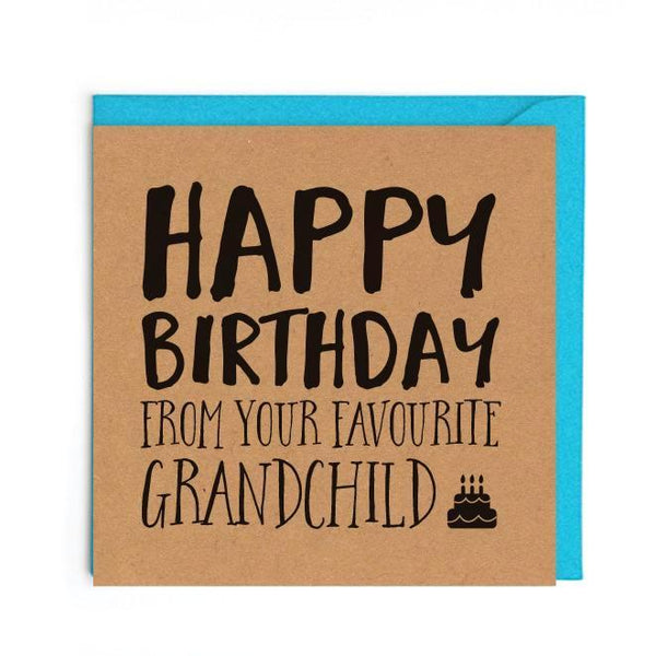 Grandparents birthday card