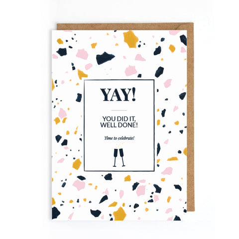 Terrazzo congratulations card | UK trend cards