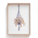 hanging plant print for the home