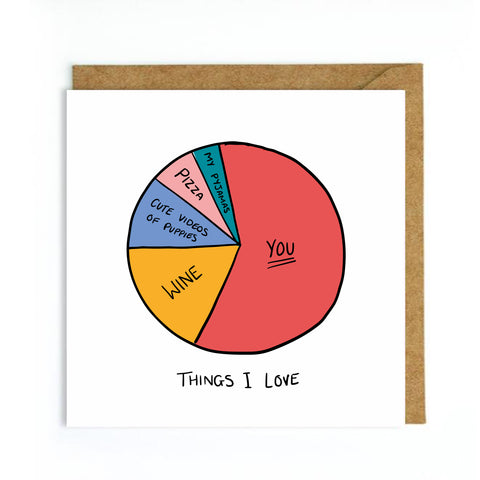 Things I love Valentines card