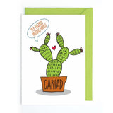Welsh cactus card