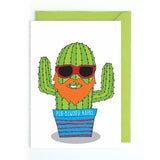 Welsh cactus birthday card