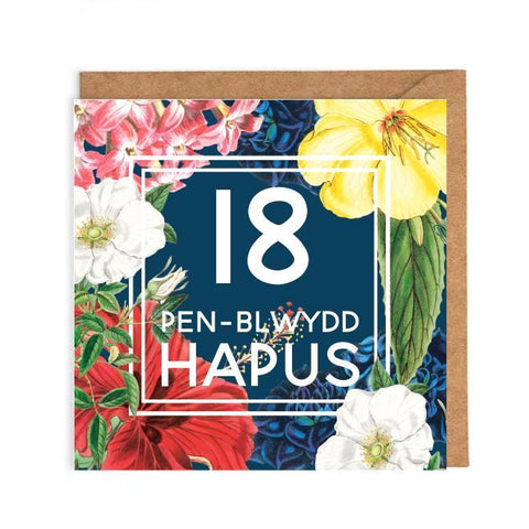 Welsh 18th Birthday Card