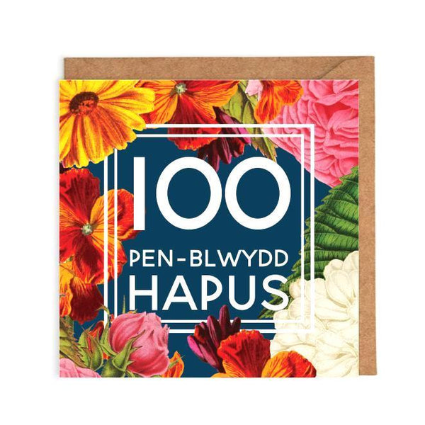 Welsh 100th Birthday Card