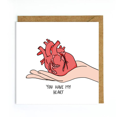 Graphic heart valentines day card