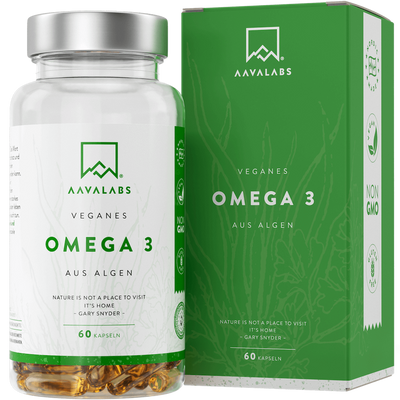 aavalabs 60 weichkapseln PFLANZLICHES OMEGA 3