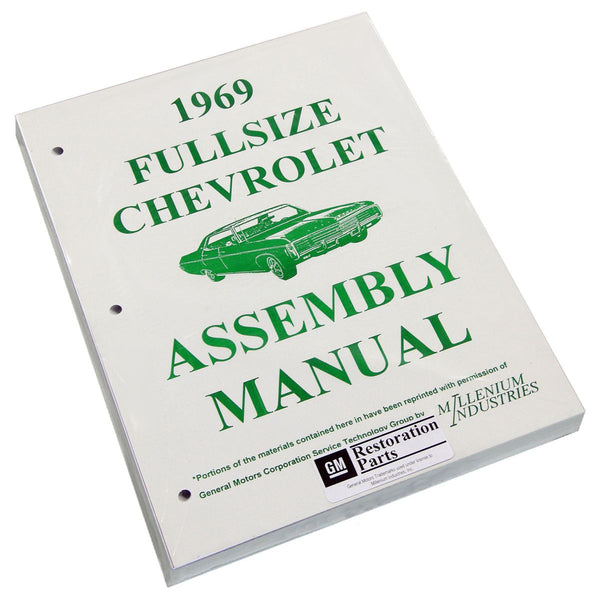 1969 Chevrolet Full Size Car Factory Assembly Manual