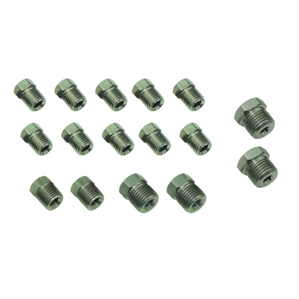 3/16 Tube Nut Fitting Pack 16pc Stainless