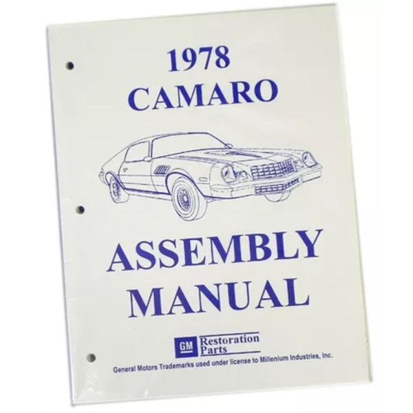 1978 Chevrolet Camaro Factory Assembly Manual