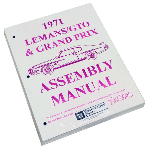 1971 Pontiac Lemans GTO Factory Assembly Manual