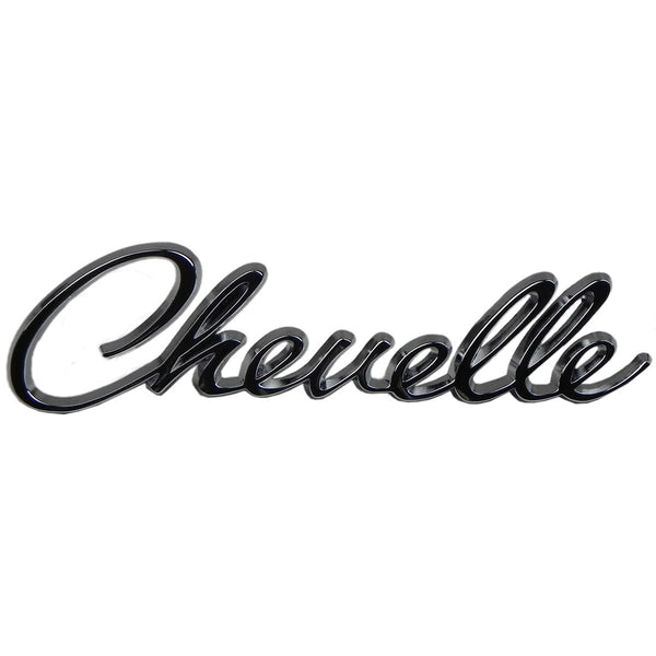 "1968-69 Chevrolet Chevelle ""Chevelle"" Header Emblem With Mounting Hardware 1pc"