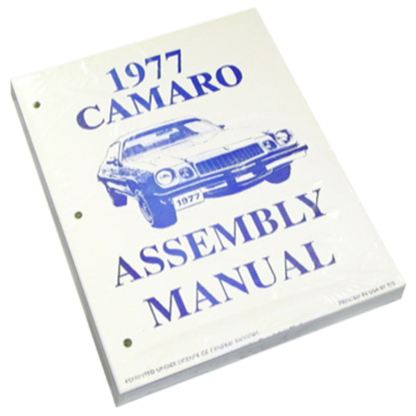 1977 Chevrolet Camaro Factory Assembly Manual