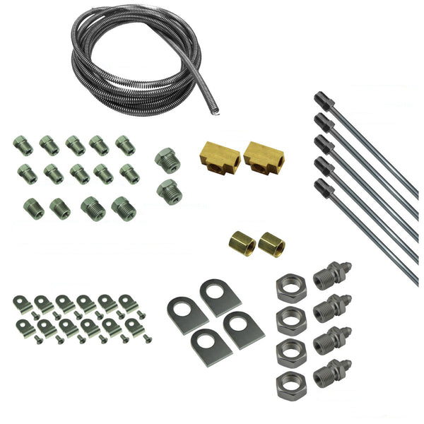 DIY Brake Plumbing Kit with Tube, Brackets, & Hardware, Stainless