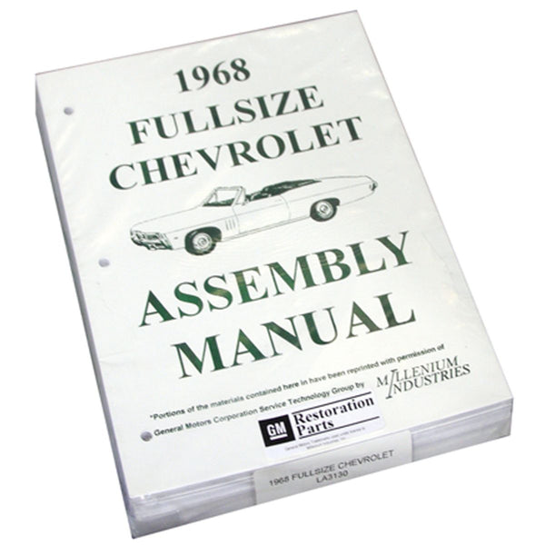 1968 Chevrolet Full Size Car Factory Assembly Manual