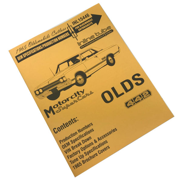 1965 Oldsmobile Cutlass OEM Specifications/Production Numbers Booklet